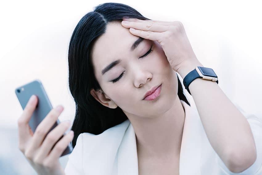 Kopfschmerzen durch Smartphone