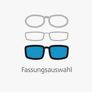 Auswahl der Brillenfassung